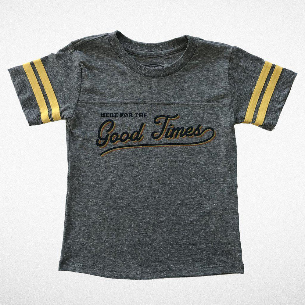 Tiny Whales, Baby Boy Apparel - Tees,  Good Times Football Tee