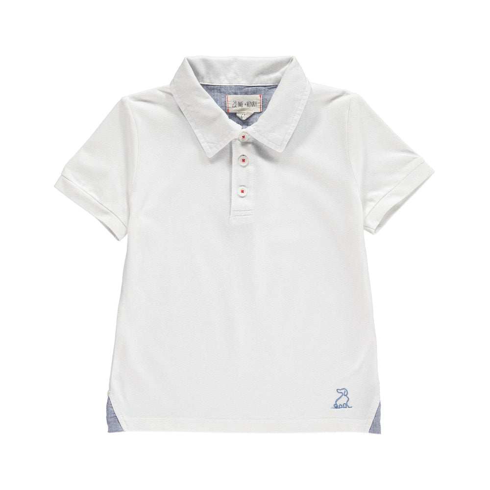 Me & Henry, Boy - Shirts,  Me & Henry | White Pique Polo