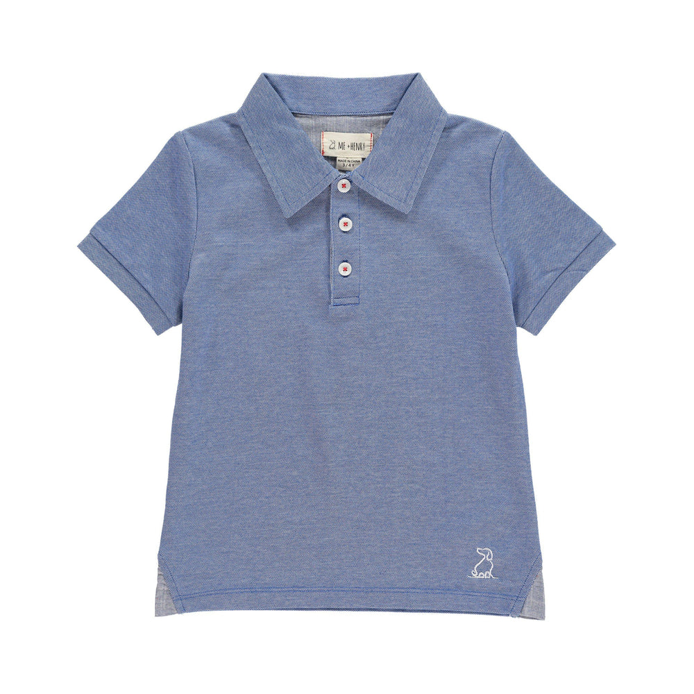 Me & Henry, Boy - Shirts,  Me & Henry | Blue Pique Polo