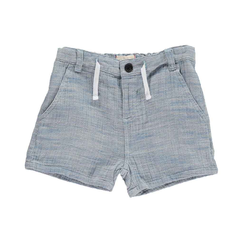 Me & Henry | Blue Woven Shorts-Boy - Shorts-Me & Henry-2/3Y-Eden Lifestyle