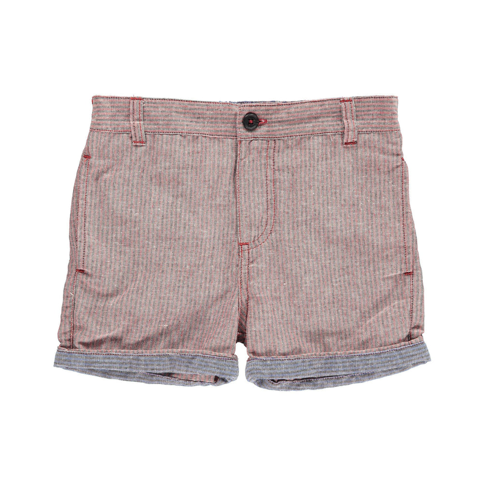 Me & Henry, Boy - Shorts,  Me & Henry | Red/Grey Woven Shorts