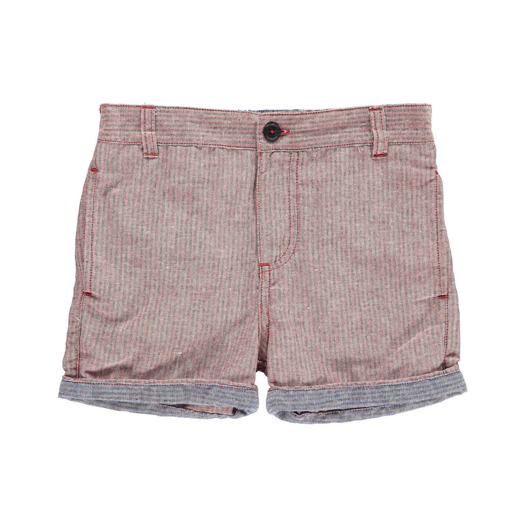 Me & Henry | Red/Grey Woven Shorts-Boy - Shorts-Me & Henry-2/3Y-Eden Lifestyle