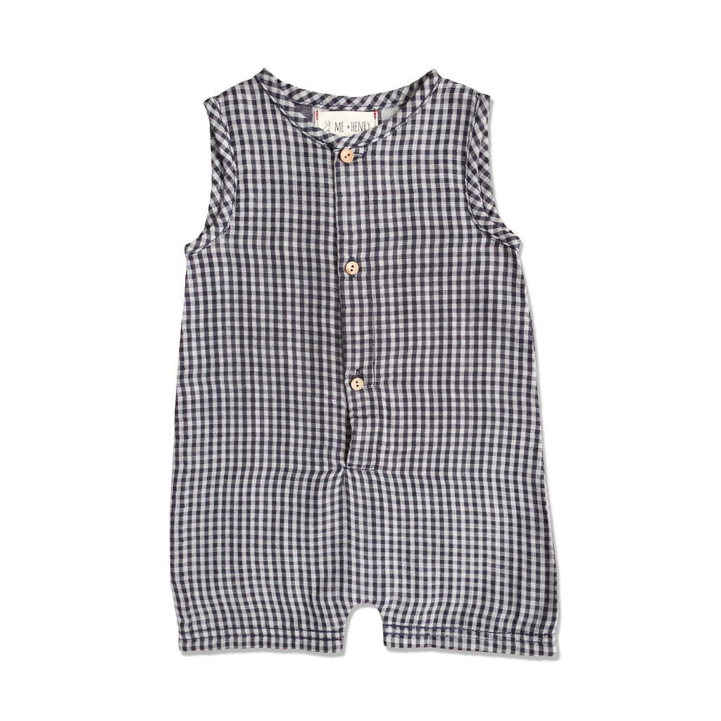 Me & Henry | Woven Romper-Baby Boy Apparel - Rompers-Me & Henry-0-3M-Eden Lifestyle