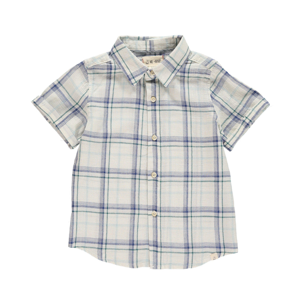 Me & Henry | Blue Plaid Woven Shirt-Boy - Shirts-Me & Henry-2/3Y-Eden Lifestyle