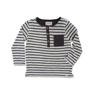 Me & Henry, Boy - Tees,  Me & Henry | Striped Henley Tee