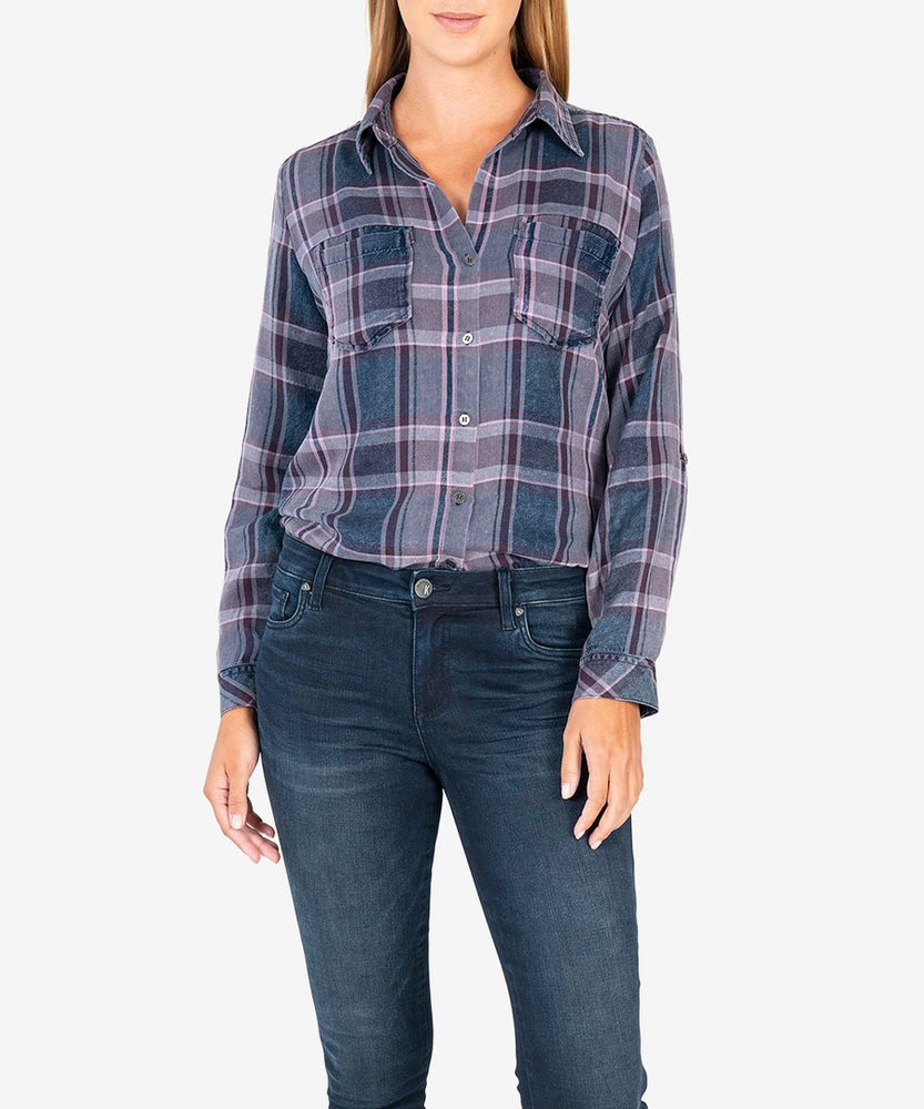 KUT from the Kloth |  Hannah Plaid Top