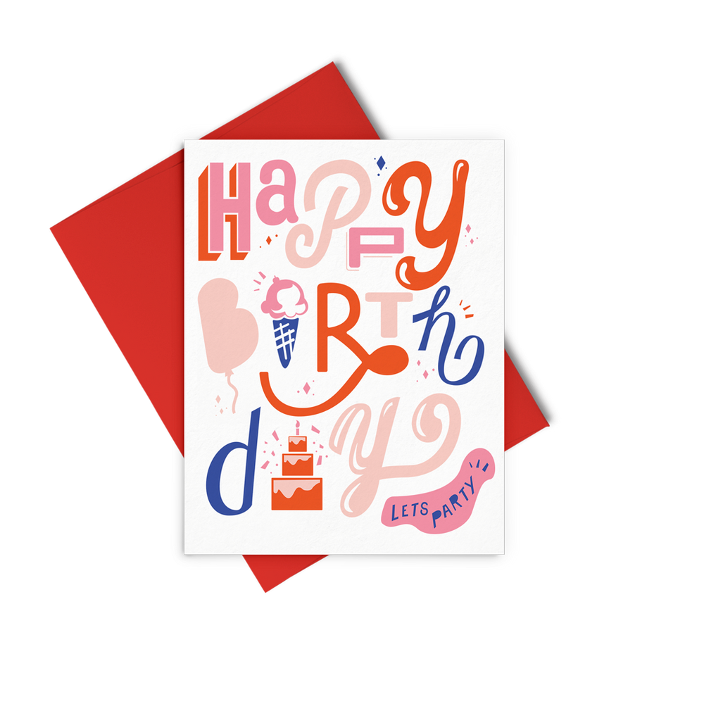 Eden Lifestyle, Gifts - Greeting Cards,  Happy Birthday Letters Greeting Card