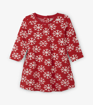 Hatley, Baby Girl Apparel - Dresses,  Hatley Falling Snowflakes Baby Swing Dress