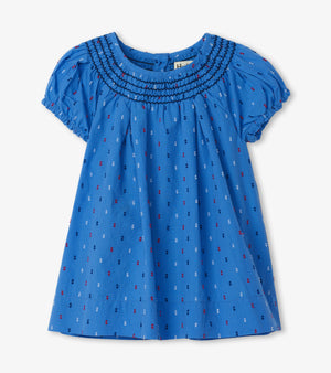 Hatley, Baby Girl Apparel - Dresses,  Hatley Nautical Swiss Dots Baby Smocked Dress