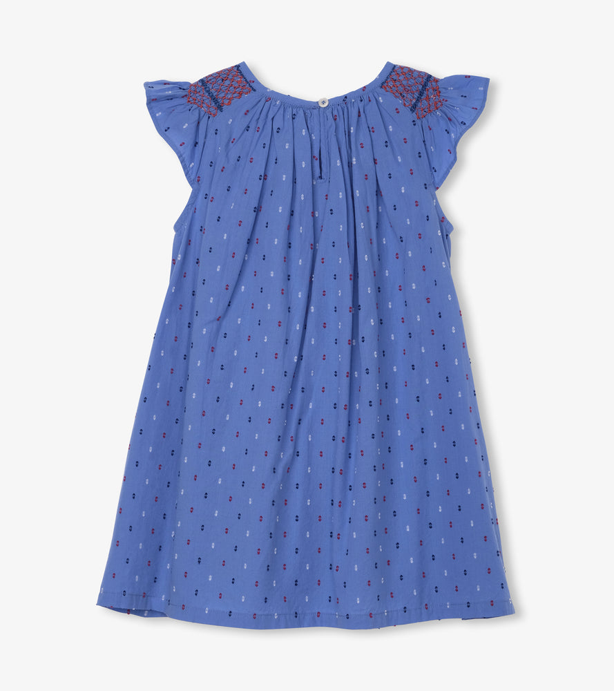Hatley Nautical Swiss Dots Smocked Dress