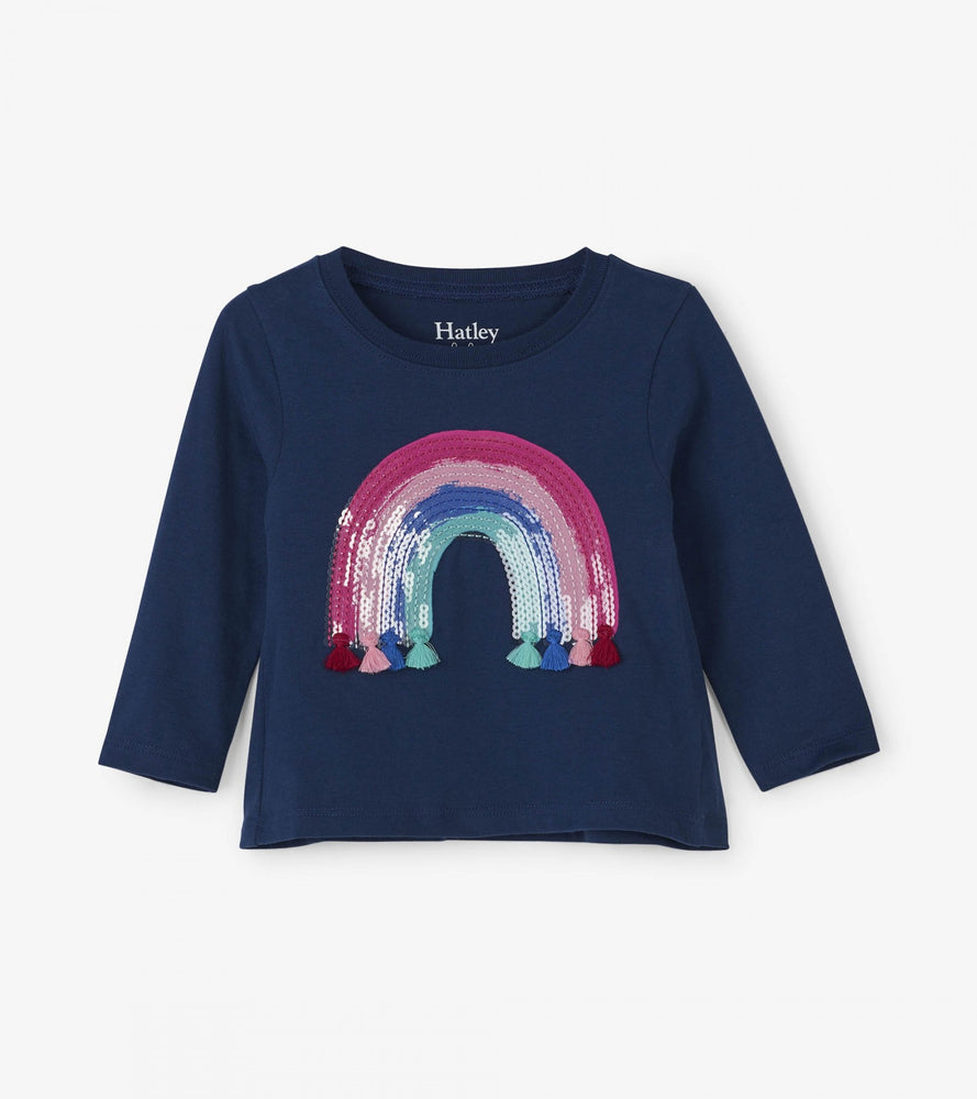 Hatley, Baby Girl Apparel - Shirts & Tops,  Hatley Rainbow Tassel Long Sleeve Baby Tee