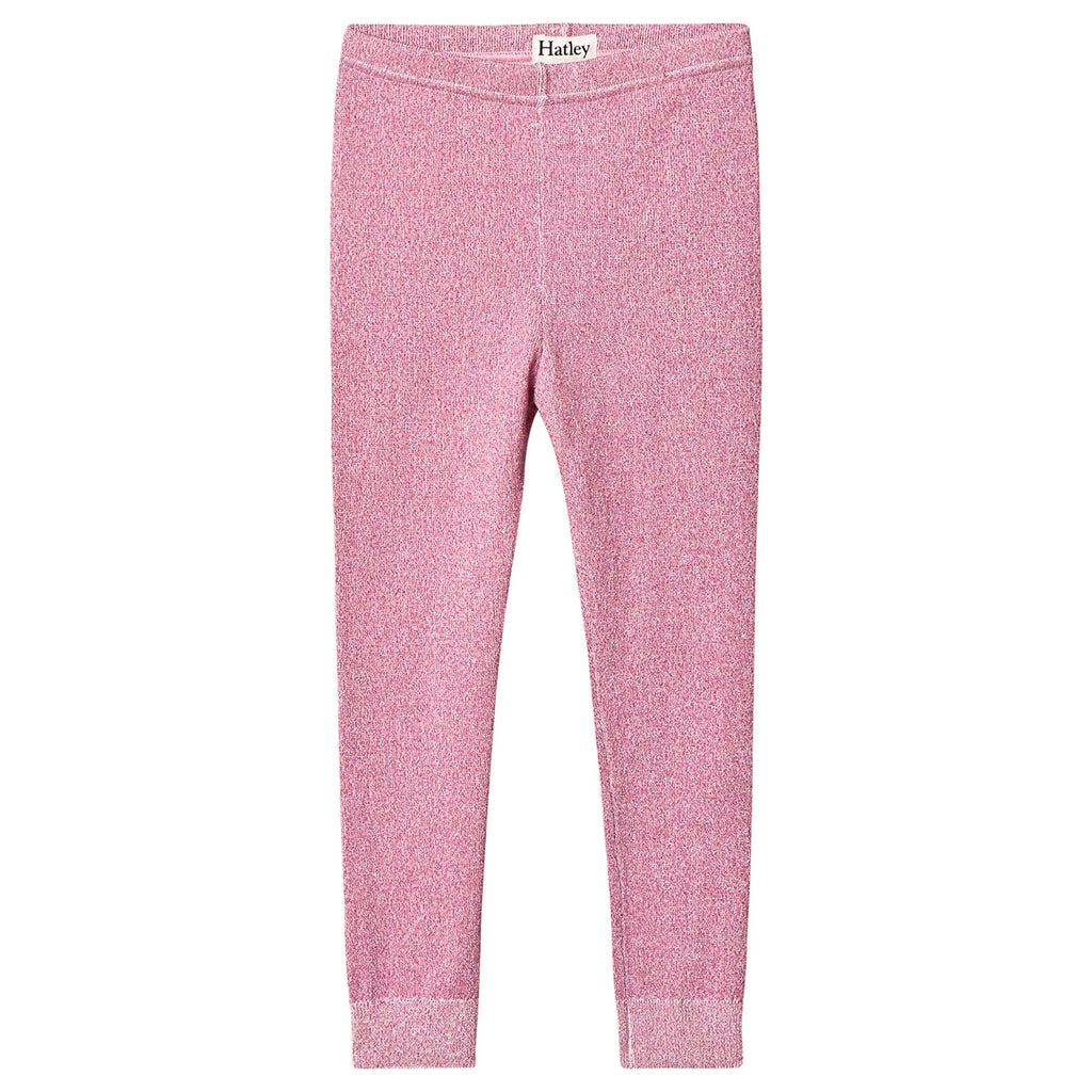 Hatley Rose Glimmer Cable Knit Leggings