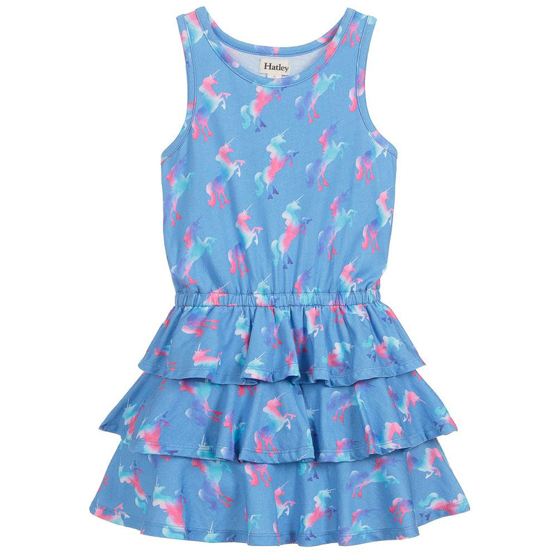 Hatley Rainbow Unicorns Ruffle Dress-Girl - Dresses-Hatley-4-Eden Lifestyle
