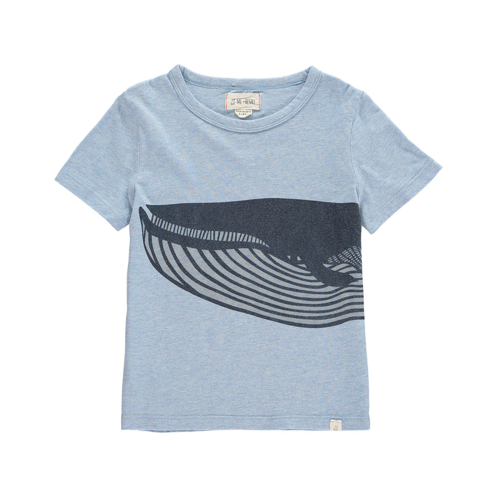 Me & Henry | Whale Print Tee-Boy - Tees-Me & Henry-2/3Y-Eden Lifestyle