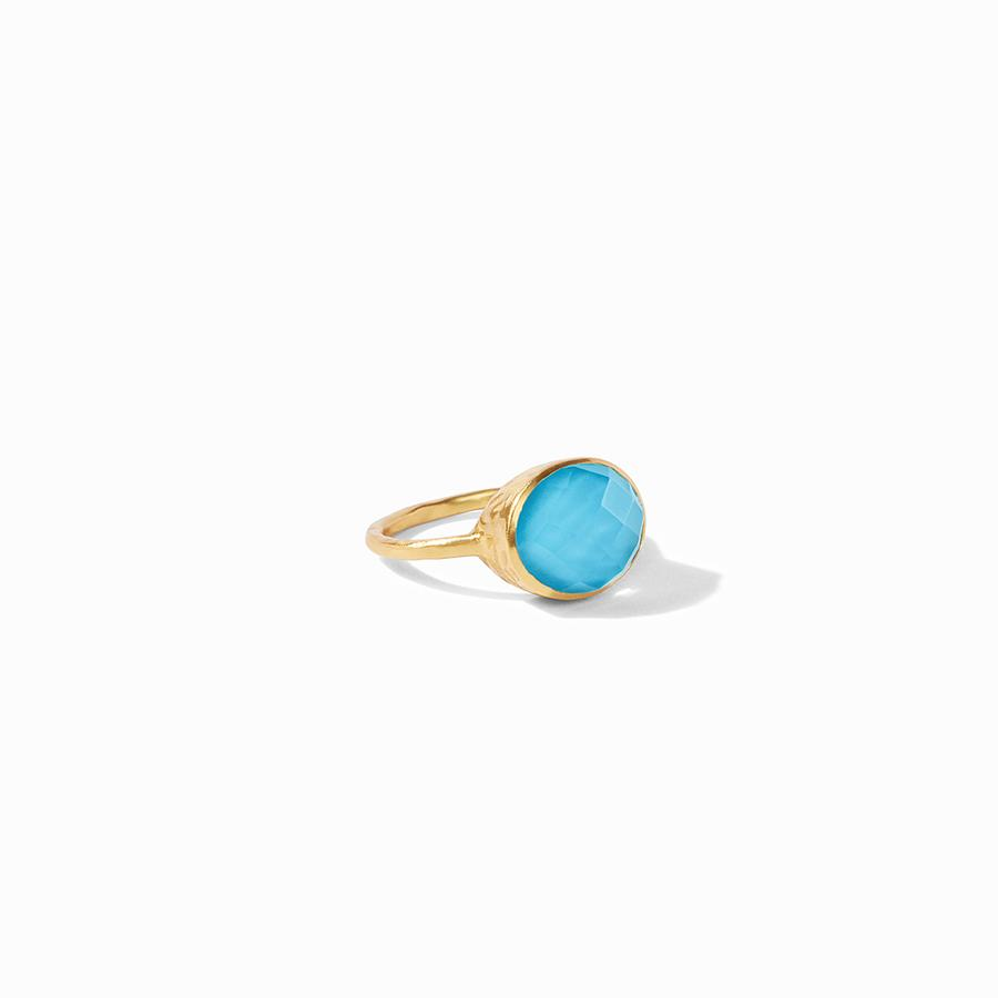Julie Vos, Accessories - Jewelry,  Julie Vos Honey Stacking Ring - Iridescent Pacific Blue