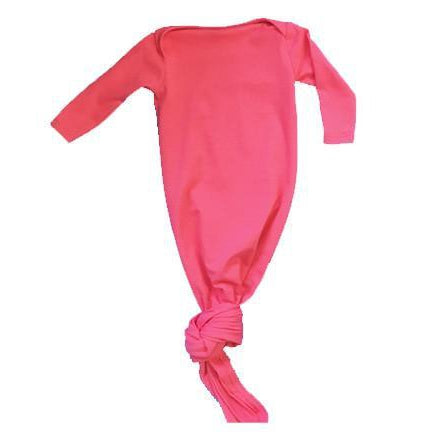 Aspen Lane, Pajamas,  Baby Knotted Gown - Hot Pink