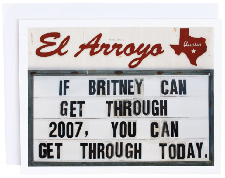 El Arroyo Britney Card