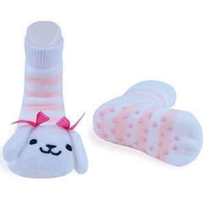 Boogie Toes - White Puppy-Accessories - Socks-Piero Liventi-0-12M-Eden Lifestyle