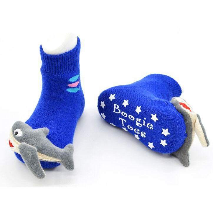 Boogie Toes - Shark-Accessories - Socks-Piero Liventi-0-12M-Eden Lifestyle