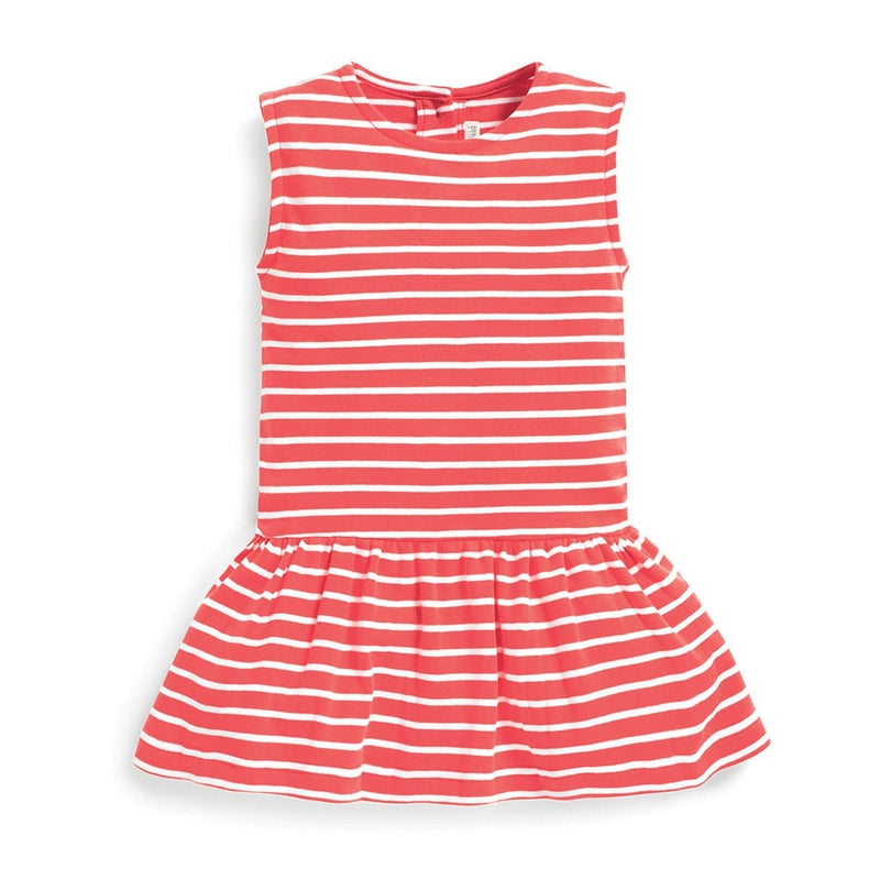 Jojo Maman Bebe Dropped Waist Summer Coral Dress-Girl - Dresses-Jojo Maman Bebe-2-3Y-Eden Lifestyle
