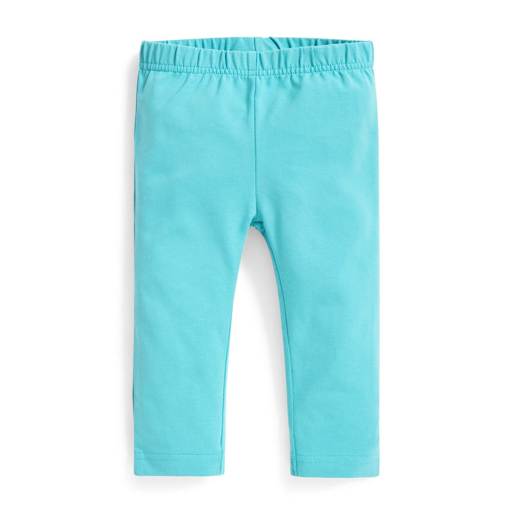 Jojo Maman Bebe Duck Egg Cropped Leggings-Girl - Leggings-Jojo Maman Bebe-2-3Y-Eden Lifestyle