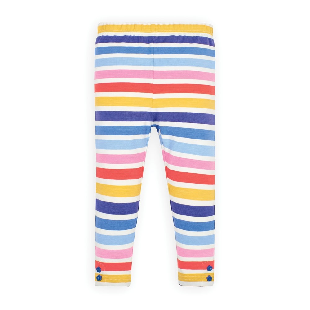 Jojo Maman Bebe Girls' Multi Color Stripe Leggings