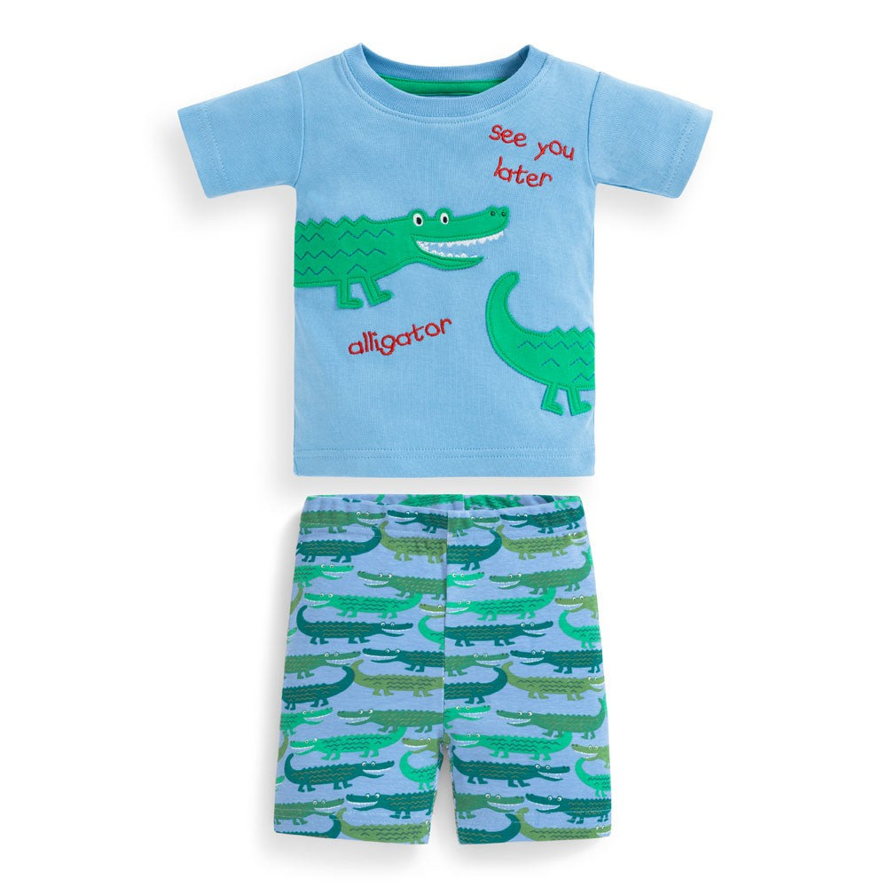 Jojo Maman Bebe Short Alligator Snug Fit Pajamas-Boy - Pajamas-Jojo Maman Bebe-2-3Y-Eden Lifestyle