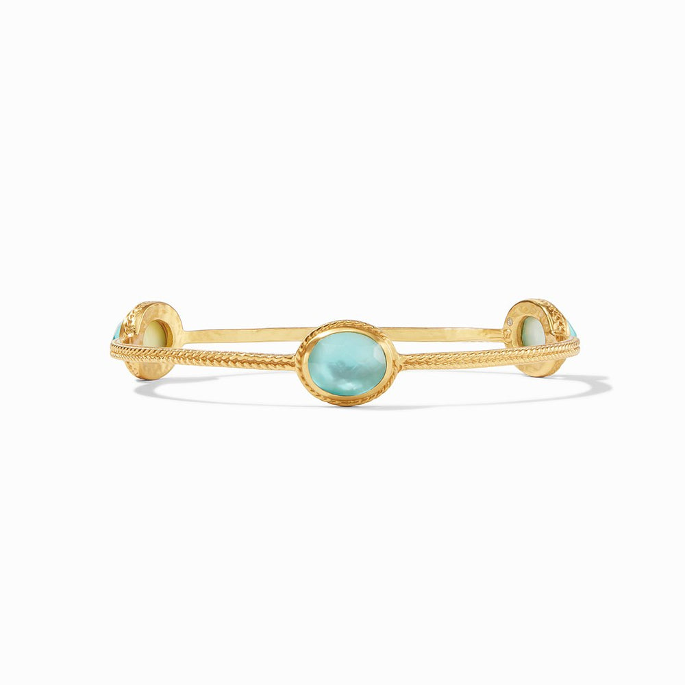 Julie Vos, Accessories - Jewelry,  Julie Vos - Calypso Bangle Gold Bahamian Blue