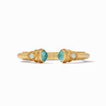 Julie Vos, Accessories - Jewelry,  Julie Vos - Cassis Demi Hinge Cuff Iridescent Bahamian Blue
