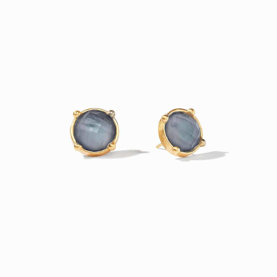 Julie Vos, Accessories - Jewelry,  Julie Vos - Honey Stud Iridescent Slate Blue