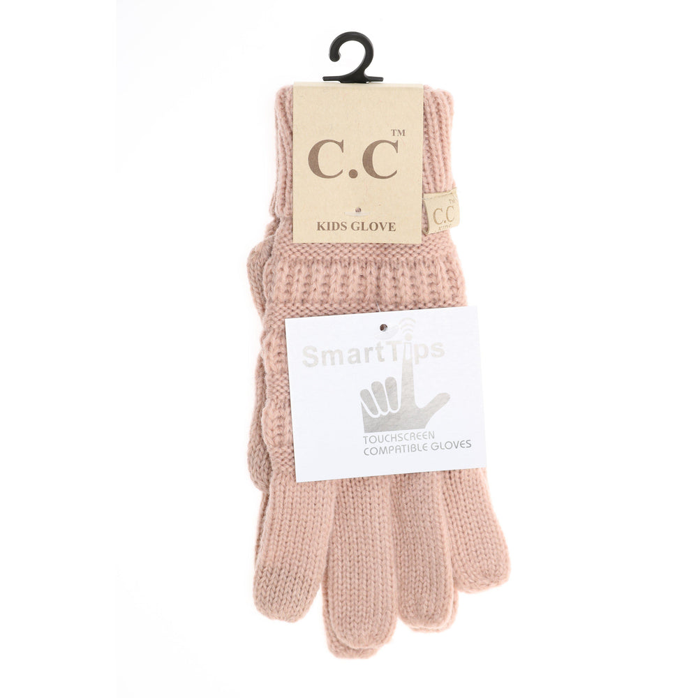 Kids Smart Tip Gloves-Accessories - Gloves & Mittens-Eden Lifestyle-Pink-Eden Lifestyle