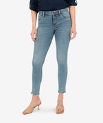 Kut from the Kloth Connie High Rise Fab Ab Slim Fit Ankle Skinny (Bulbinella)