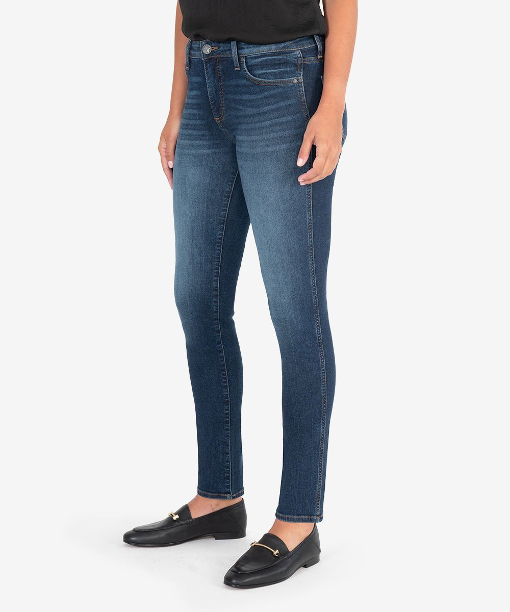 KUT from the Kloth | DIANA HIGH RISE FAB AB RELEASED FIT SKINNY (BUSY WASH)