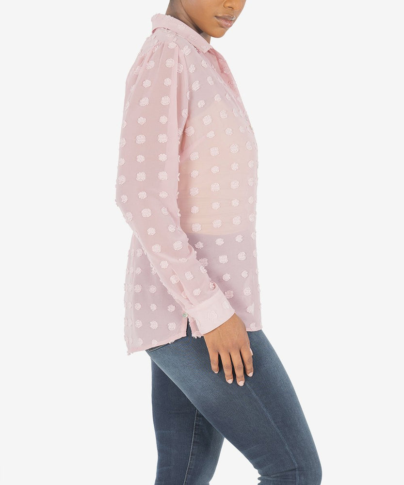 KUT from the Kloth, Women - Shirts & Tops,  KUT from the Kloth - BILLA BUTTON DOWN SHIRT (ROSE)