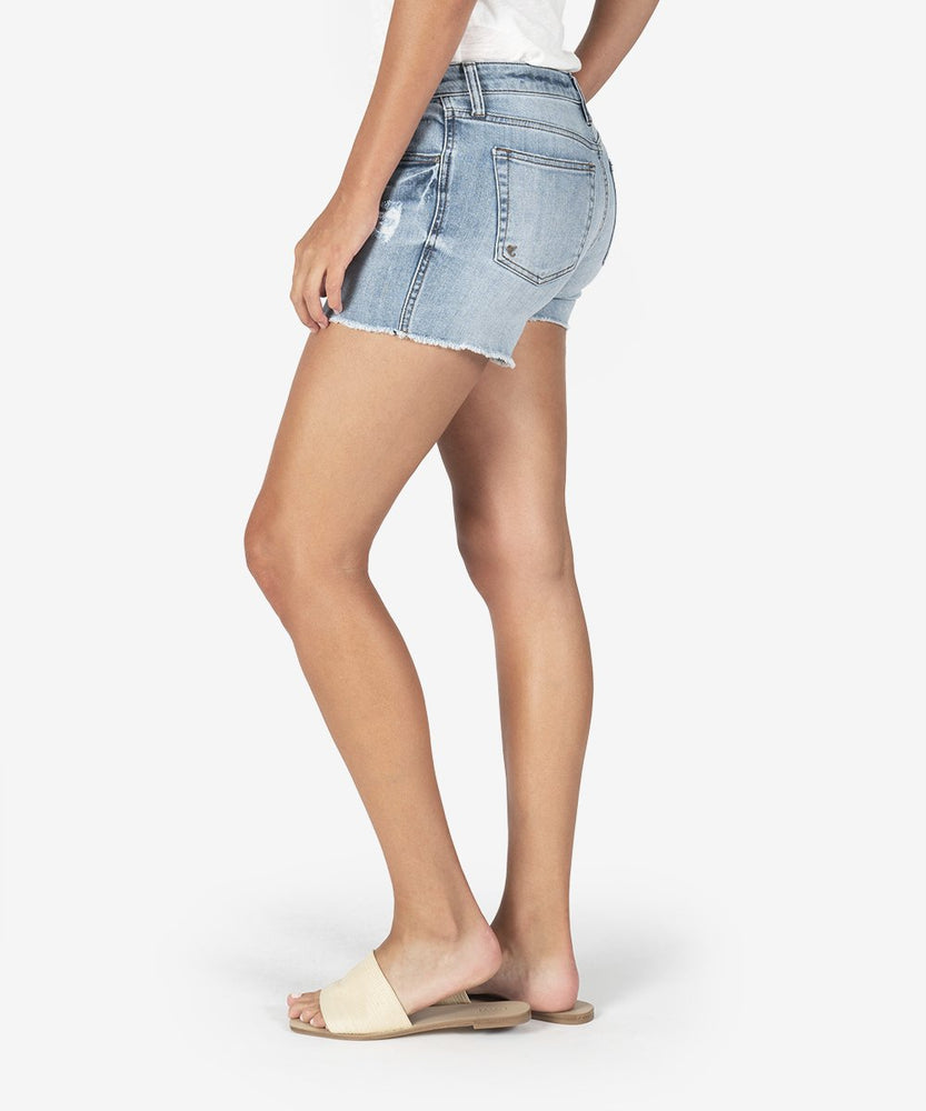 KUT from the Kloth - Gidget Fray Short (Enrapture Wash)