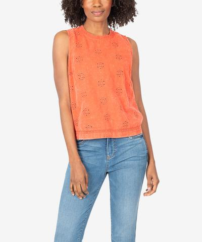 KUT from the Kloth Jaquetta Sleeveless Lace Top - Eden Lifestyle
