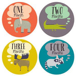 Little Animal Lover Monthly Stickers-Baby - Nursery Organization-Lucy Darling-Eden Lifestyle