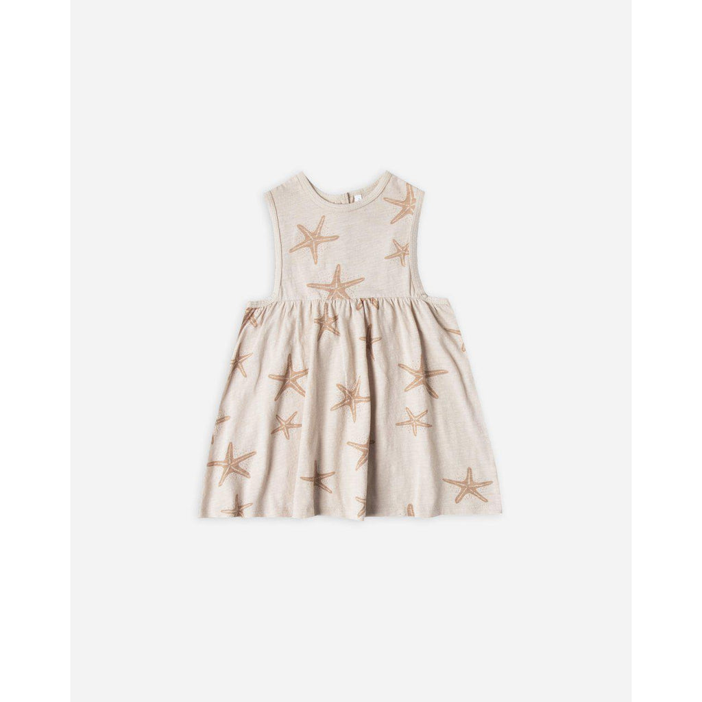 Rylee & Cru Layla Dress Starfish-Baby Girl Apparel - Dresses-Rylee and Cru-3-6M-Eden Lifestyle