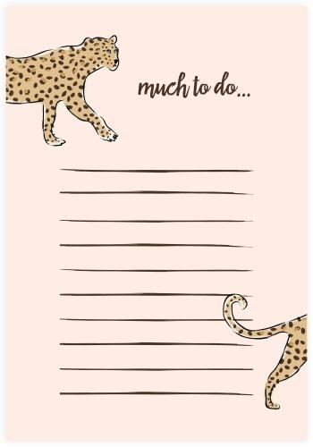 Leopard To Do List Notepad