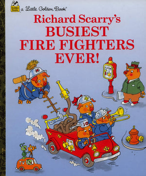 Little Golden Books, Books,  Little Golden Books -  Richard Scarry - Busiest Fire Fighter Ever