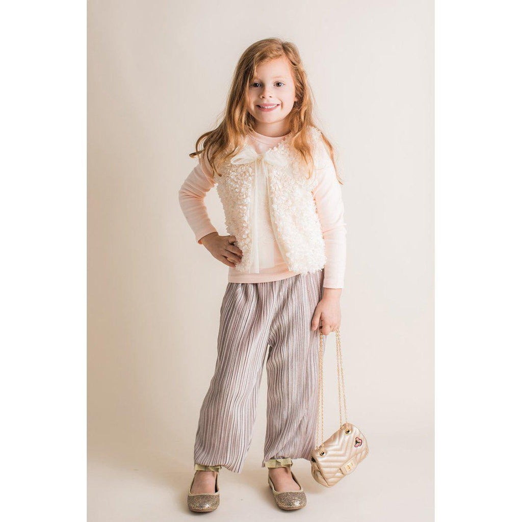 Mae Li Rose Blush Pleated Pants-Girl - Pants-Mae Li Rose-4/5Y-Eden Lifestyle