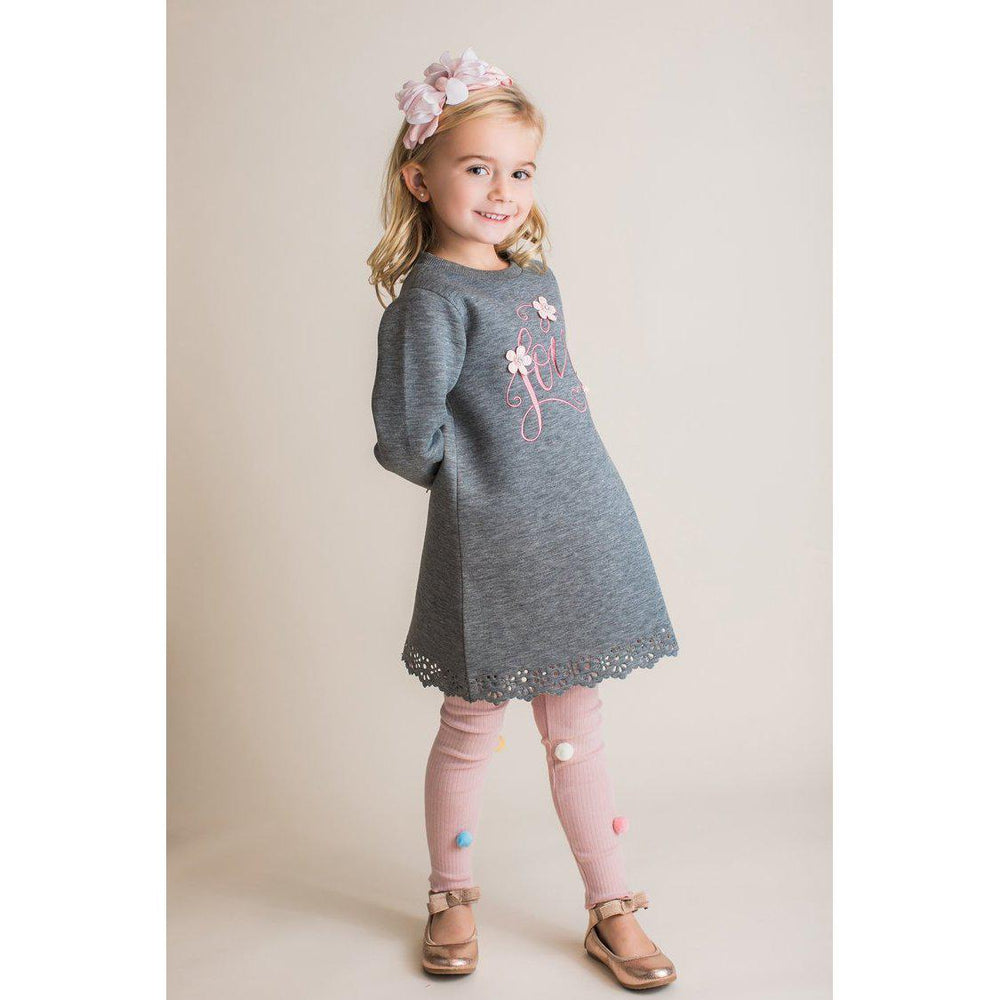 Mae Li Rose Pom Pom Leggings-Baby Girl Apparel - Leggings-Mae Li Rose-12/18M-Blush-Eden Lifestyle