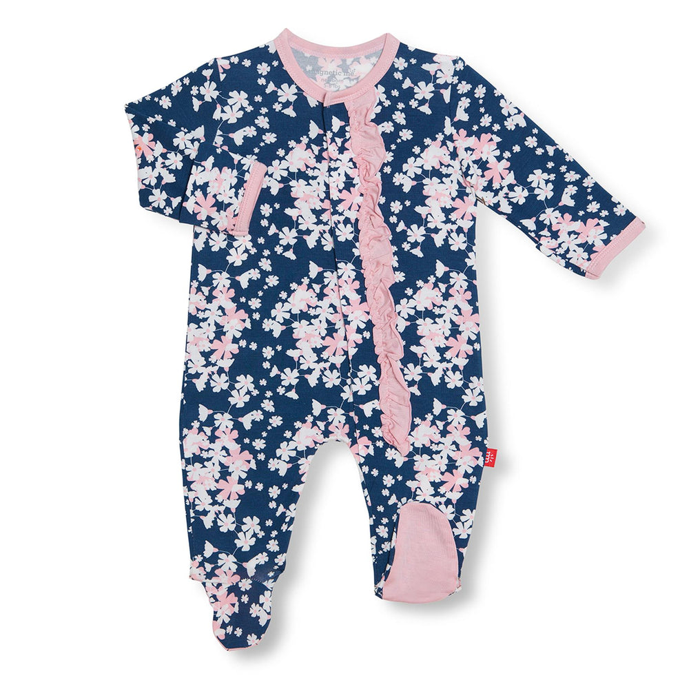 Magnificent Baby, Baby Girl Apparel - Pajamas,  Magnetic Me by Magnificent Baby Aberdeen Modal Magnetic Footie