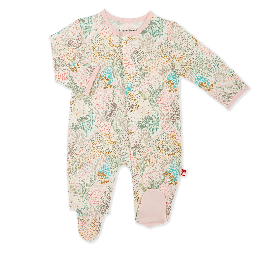 Magnetic Me by Magnificent Baby Coral Cay Modal Magnetic Footie - Eden Lifestyle