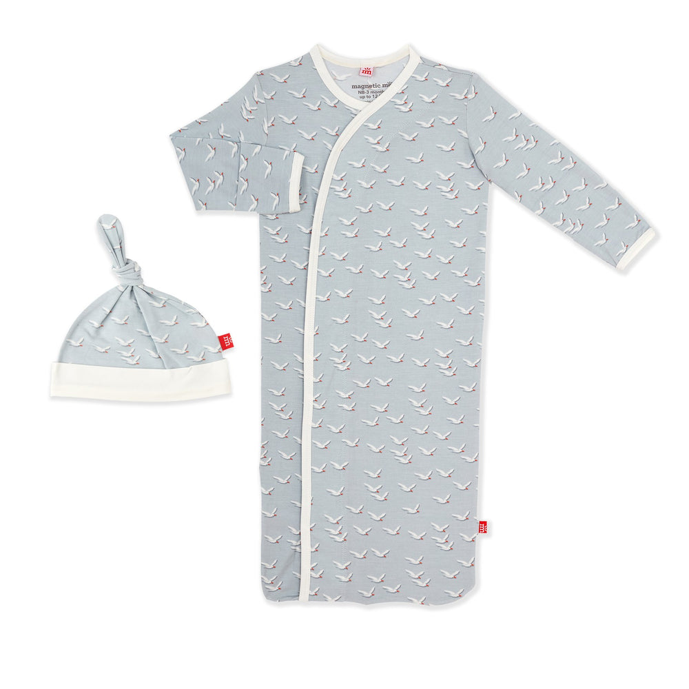 Magnetic Me by Magnificent Baby Fly Like a Seagull Modal Magnetic Gown & Hat - Eden Lifestyle