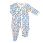 Magnetic Me by Magnificent Baby Somebunny Floral Model Magnetic Footie - Eden Lifestyle