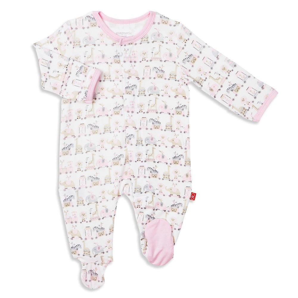 Magnetic Me by Magnificent Baby Pink Taj Express Model Magnetic Footie