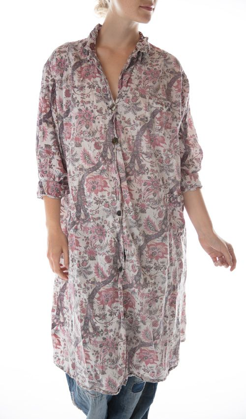 Magnolia Pearl Cotton Hudson Smockdress with Pockets, Mixed Buttons and Patches