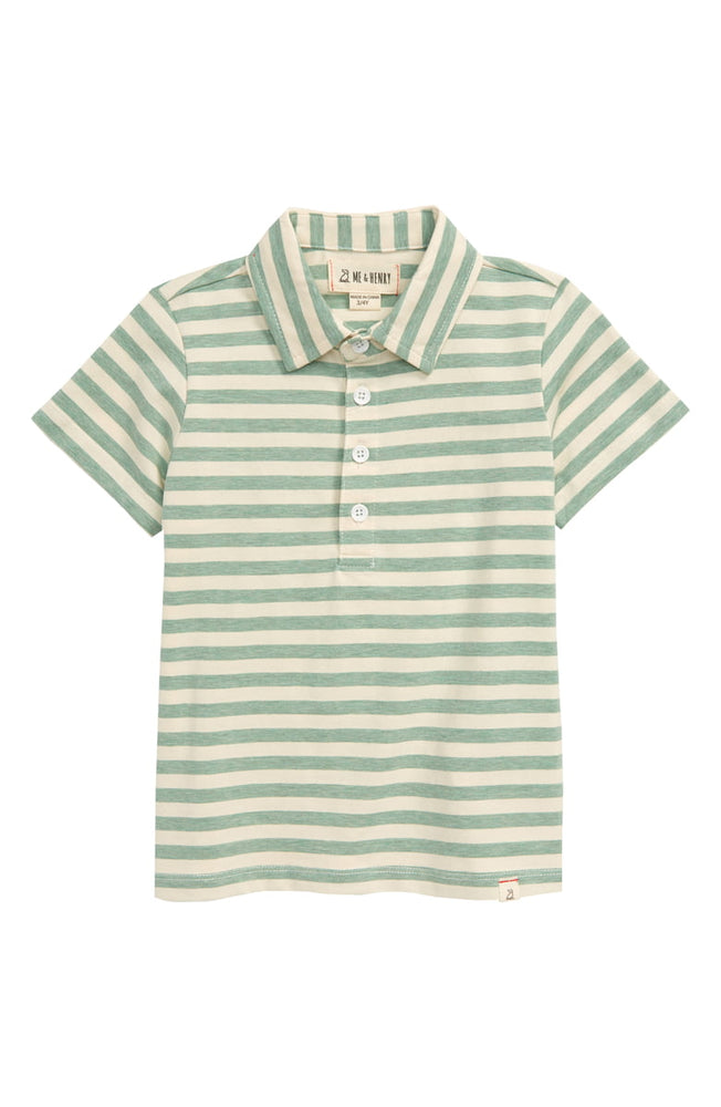 Me & Henry - Green/Cream Stripe Polo