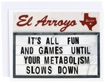 El Arroyo Metabolism Card